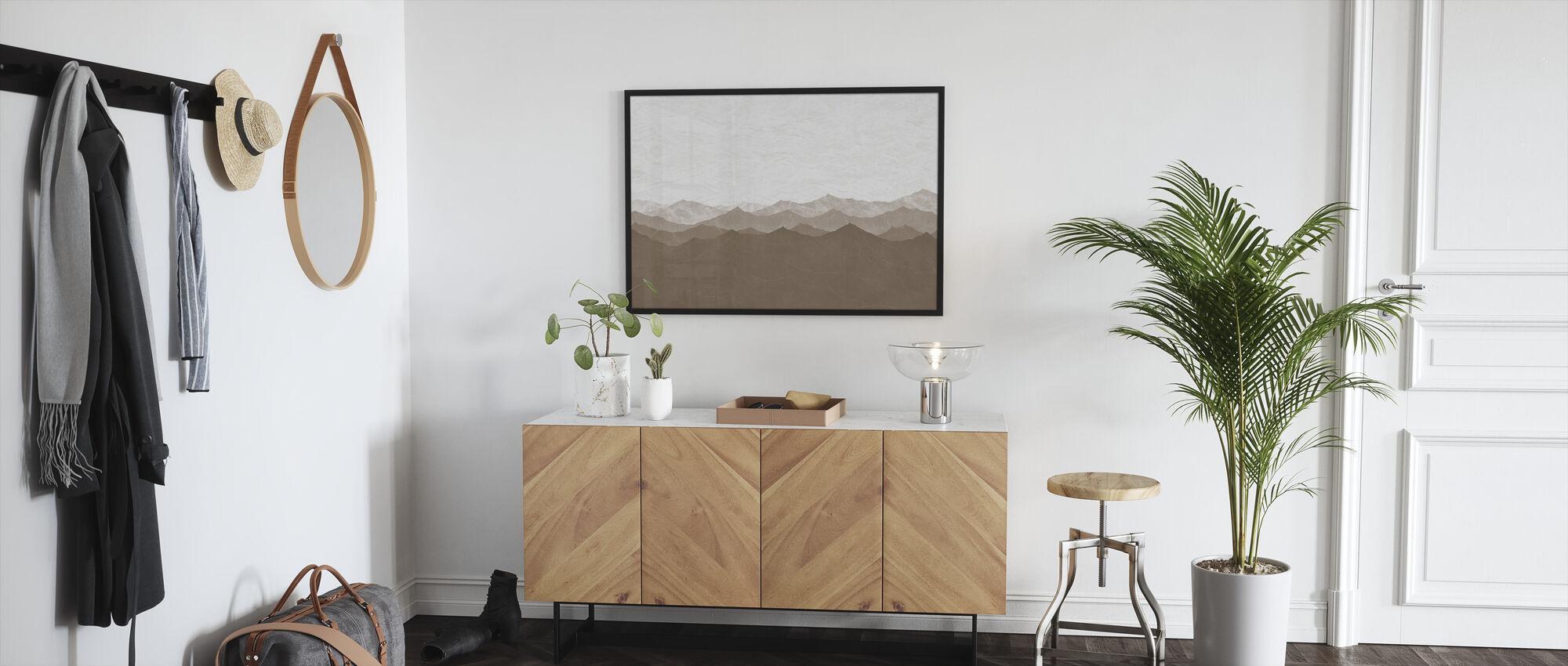 Montagne - Brown - Framed print - Hallway