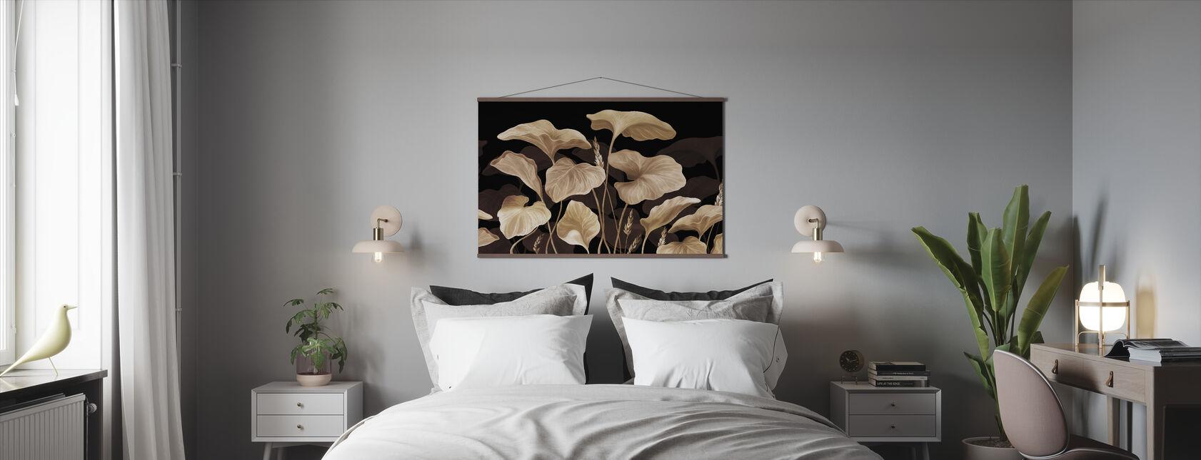 Lehdet - Pähkinäpensas - Juliste - Makuuhuone