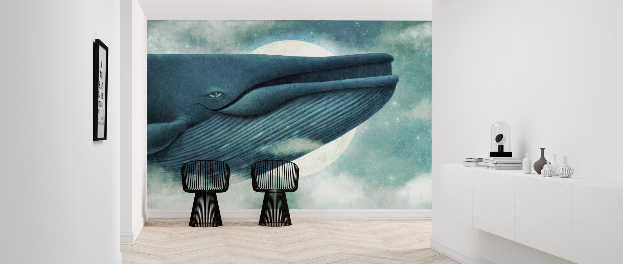 Dream of the Blue Whale Landscape - Wallpaper - Hallway