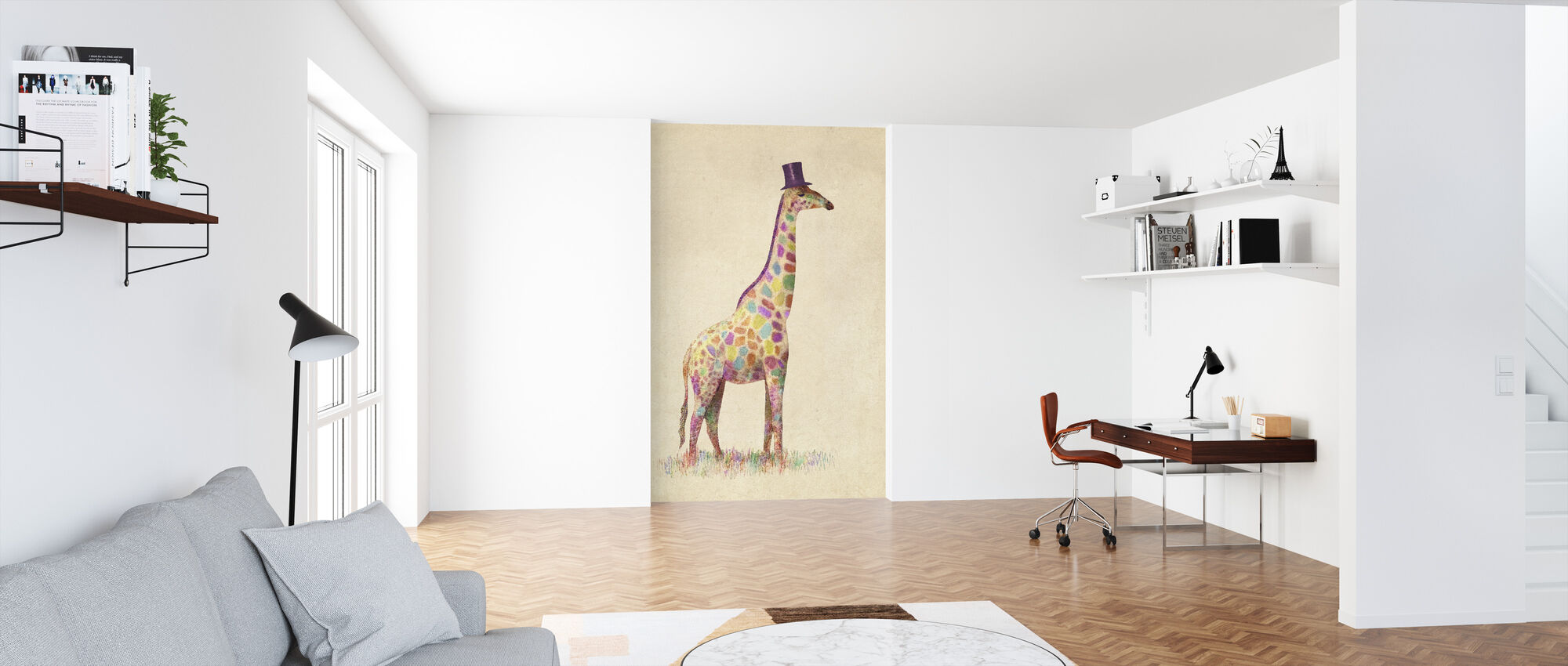 Fashionable Giraffe - Wallpaper - Office
