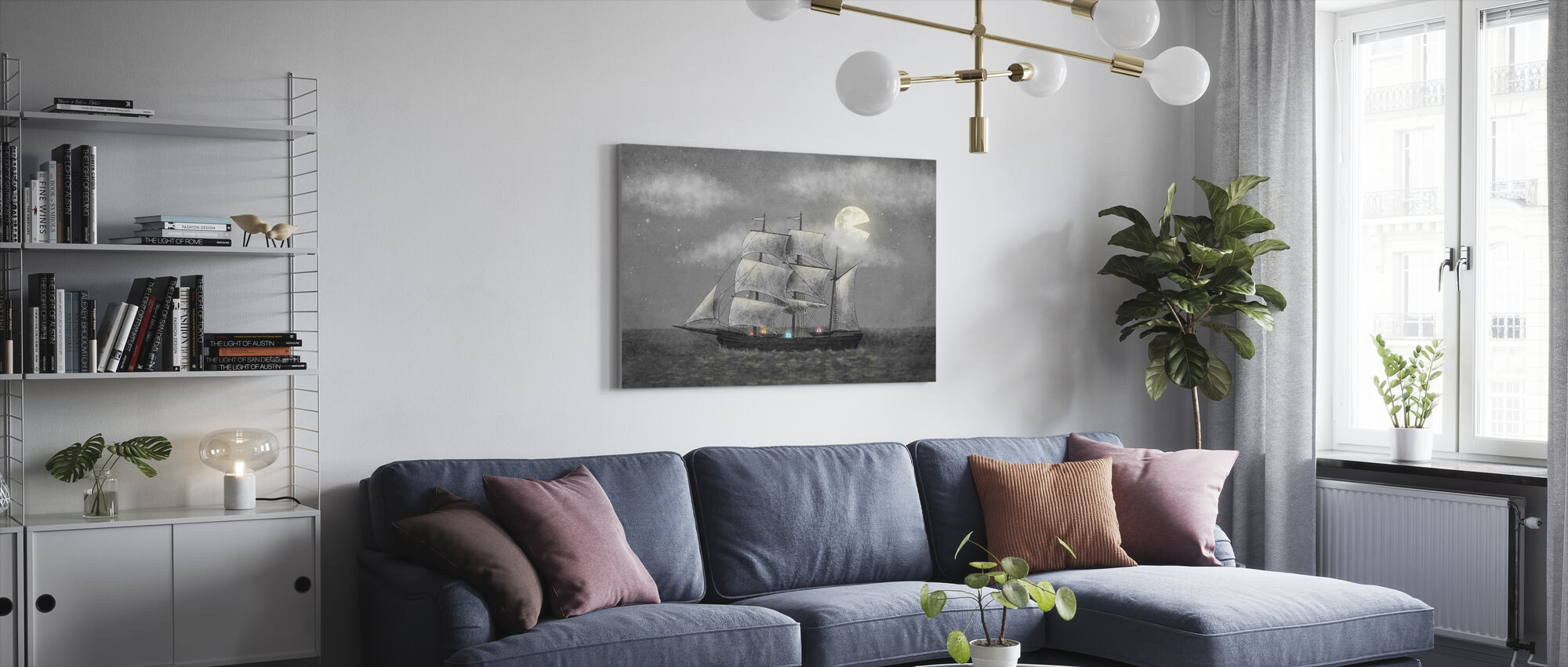 Spøkelse skip - Lerretsbilde - Stue