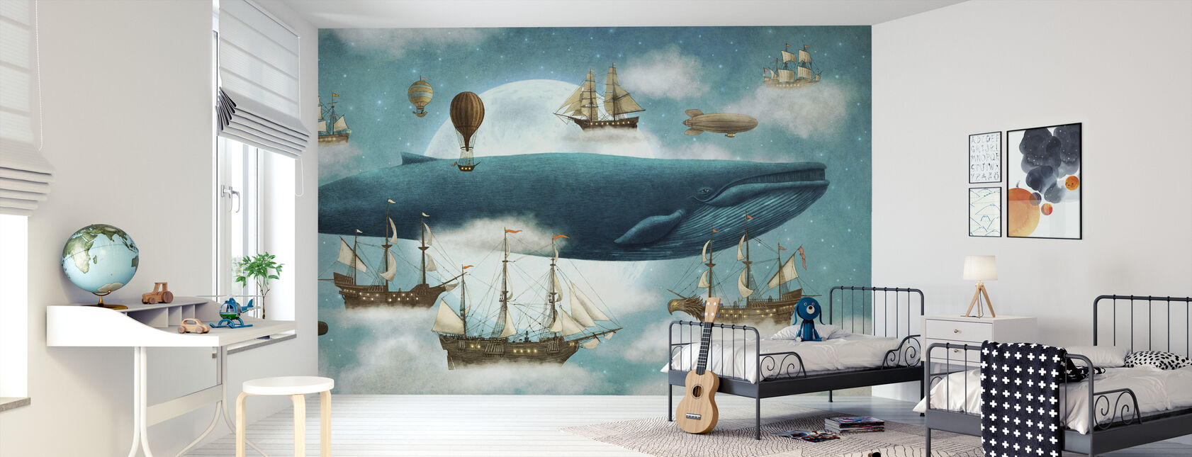 Ocean Meets Sky - Wallpaper - Kids Room