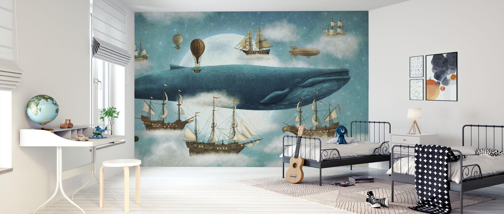 Ocean Meets Sky - Wallpaper - Kids Room