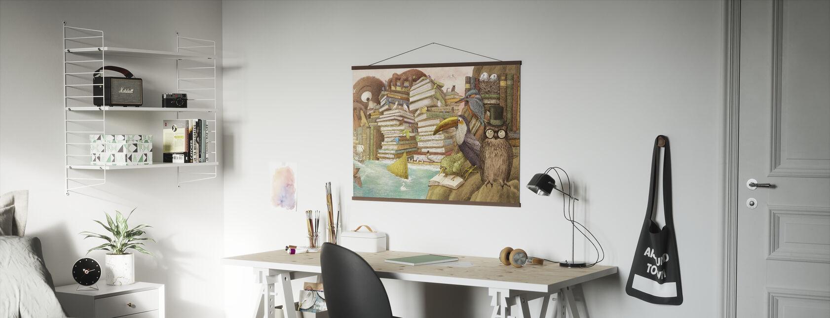 Ocean Meets Sky Library Islands - Poster - Office