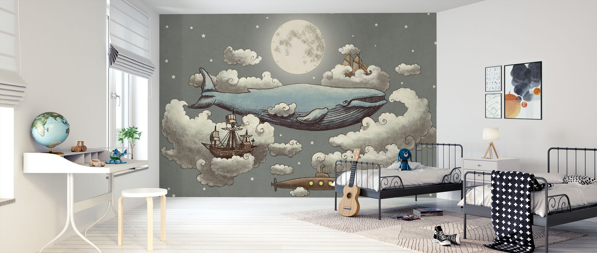 Ocean Meets Sky Original - Wallpaper - Kids Room