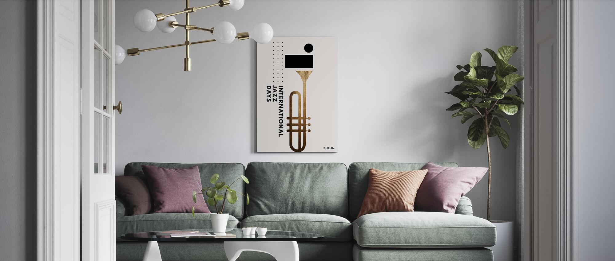 Jazzy Dage III - Billede på lærred - Stue