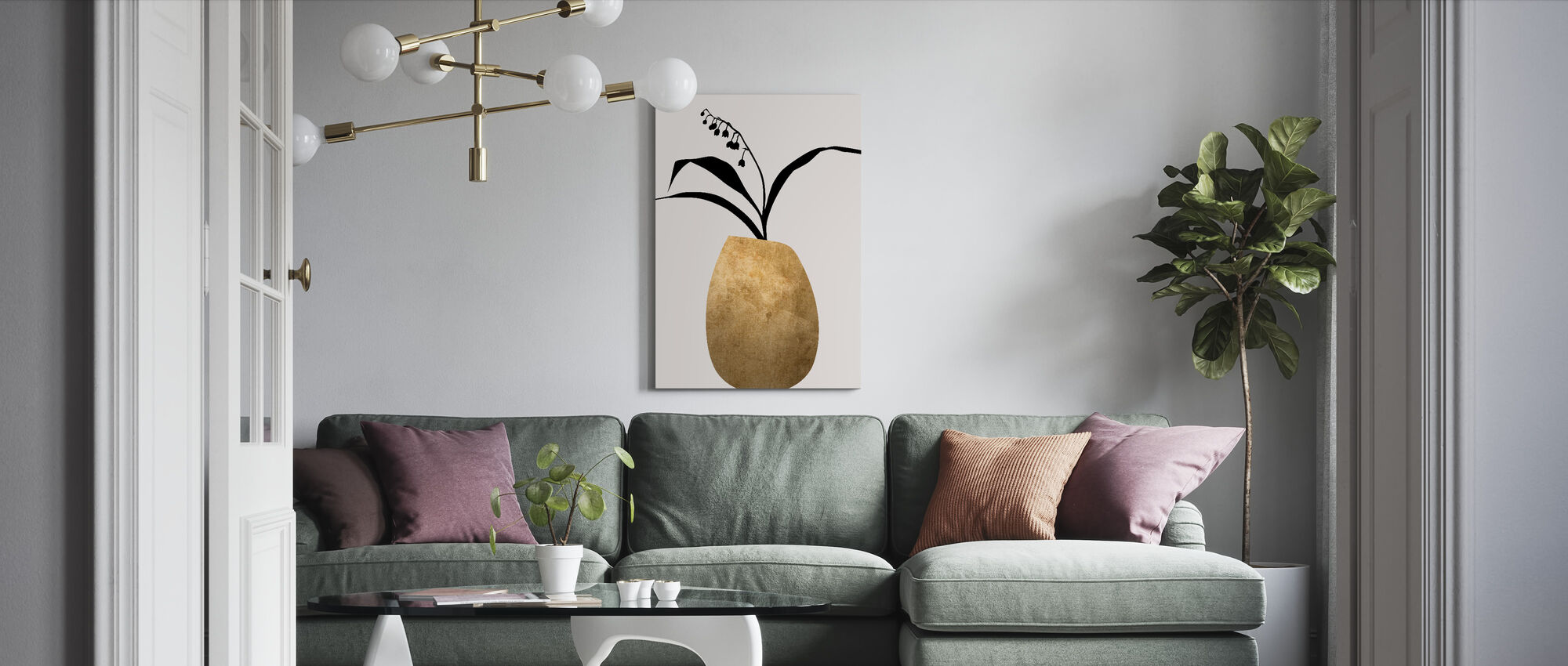 Water Lilies - Canvas print - Living Room