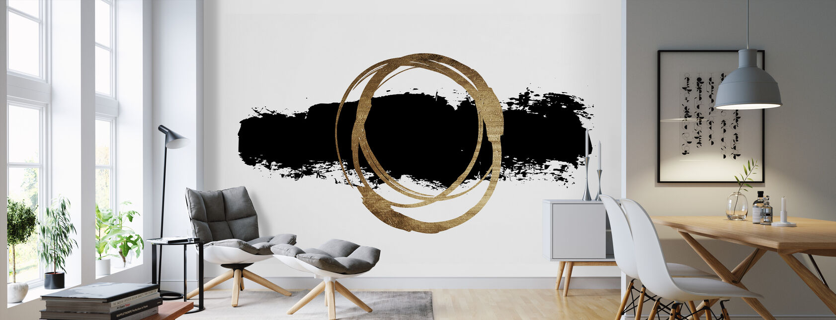 Circle And Line - Wallpaper - Living Room
