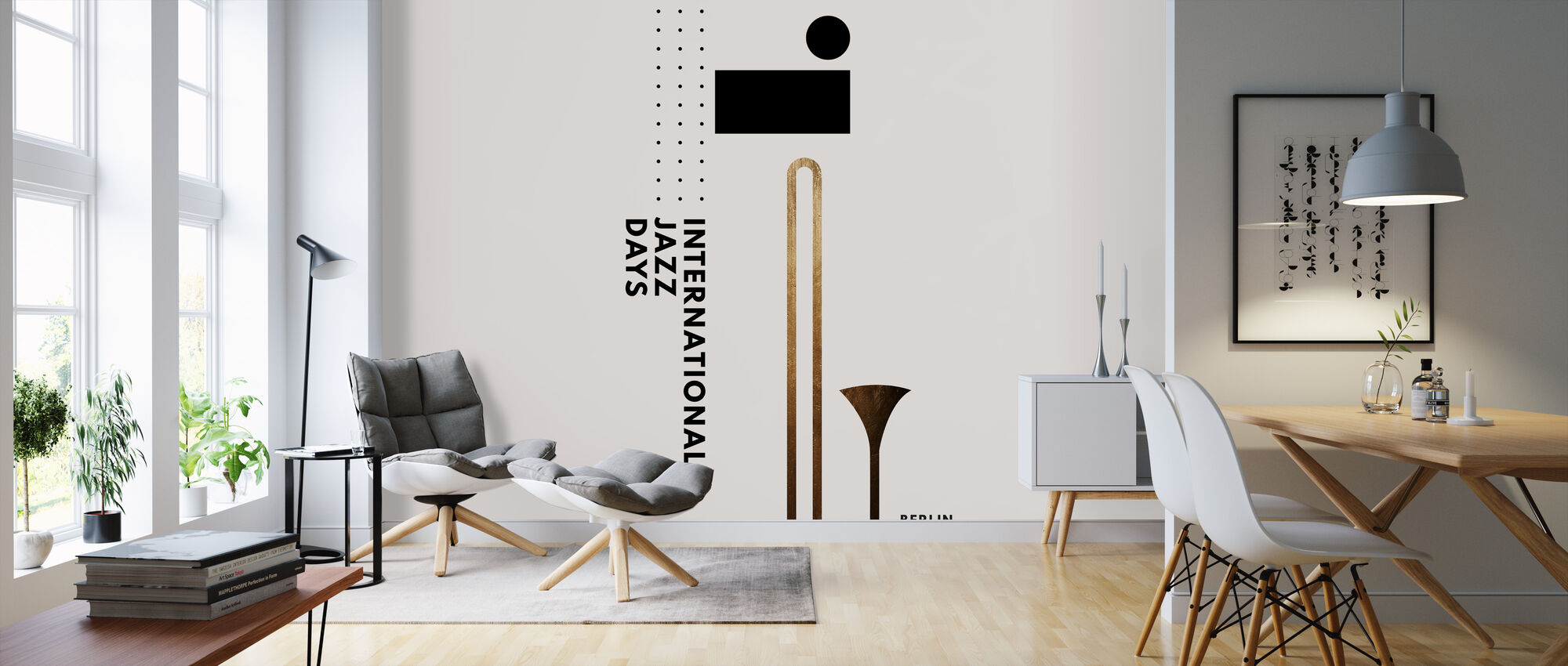 Jazzy Days III - Wallpaper - Living Room