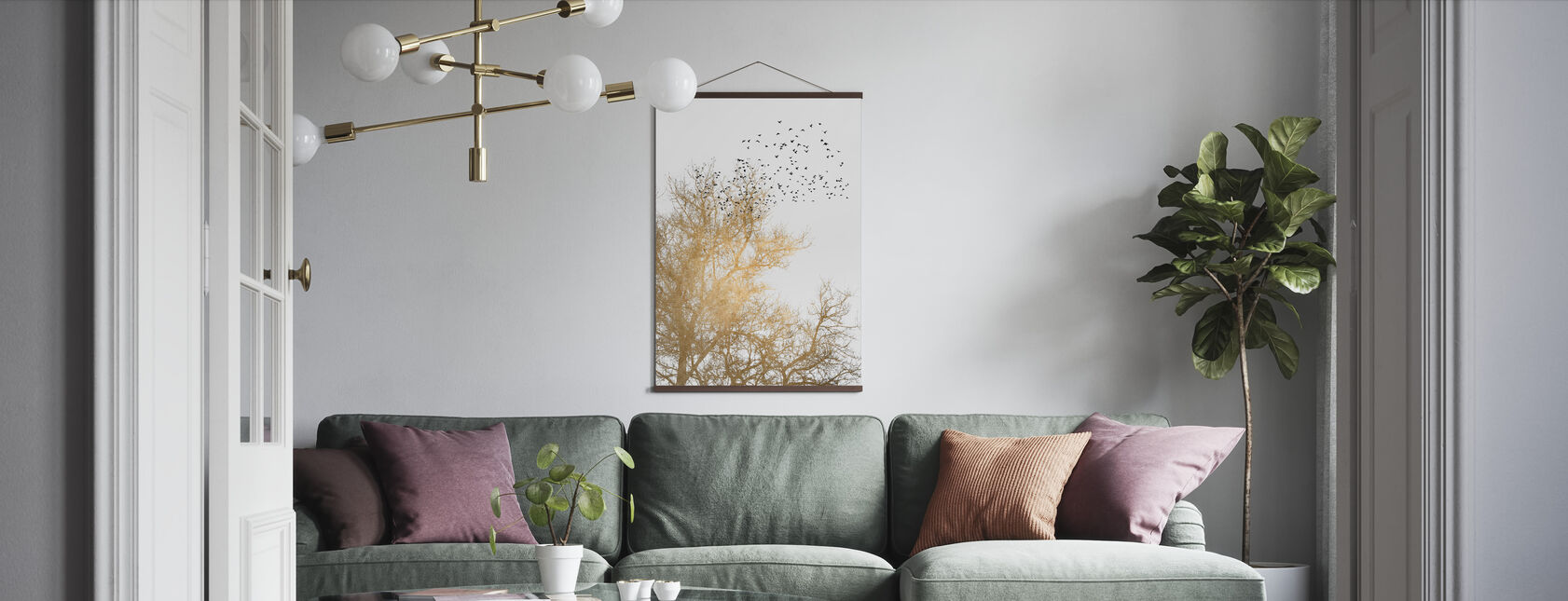 Golden Skies - Poster - Living Room