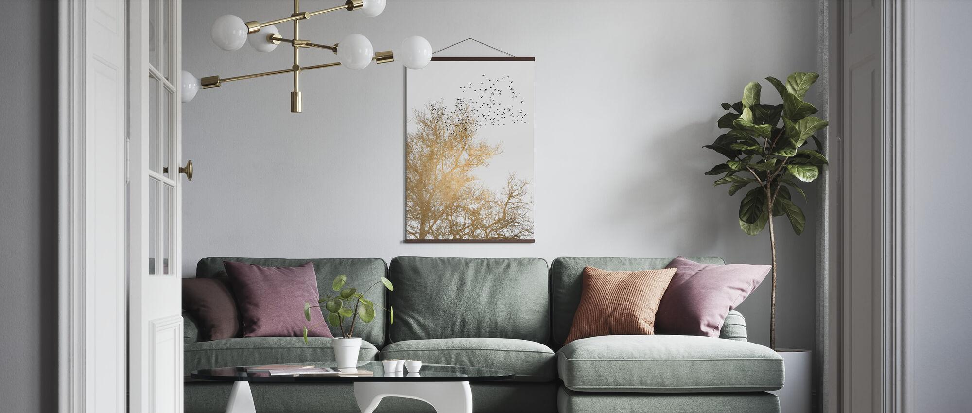 Golden Skies - Poster - Living Room