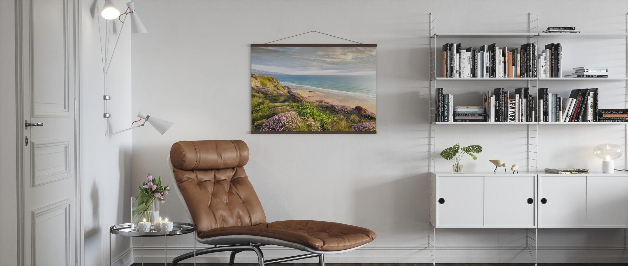 Strand Blomma - Poster - Vardagsrum