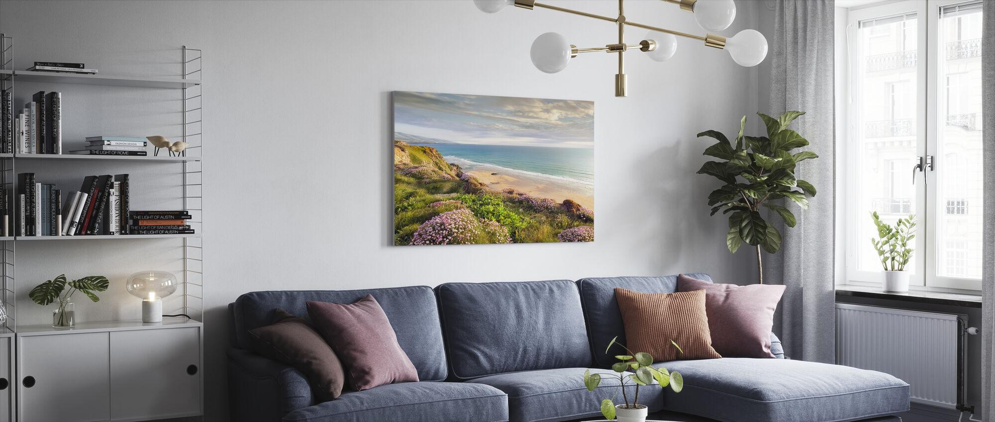 Strand Blomst - Lerretsbilde - Stue