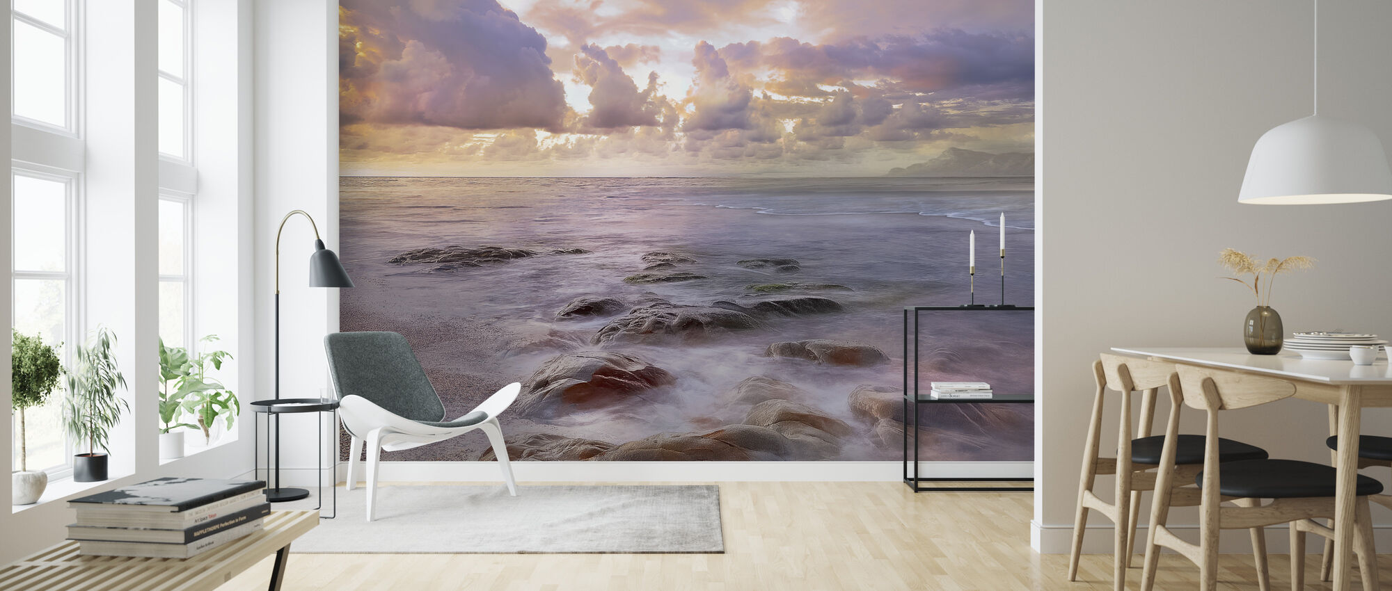 Blue Way - Wallpaper - Living Room