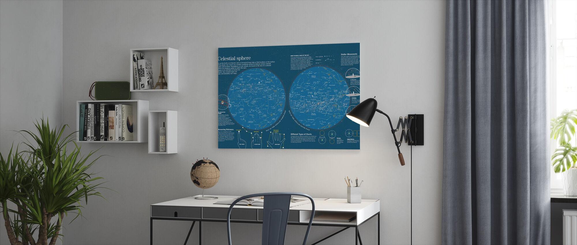 Celestial Sphere - Canvas print - Office