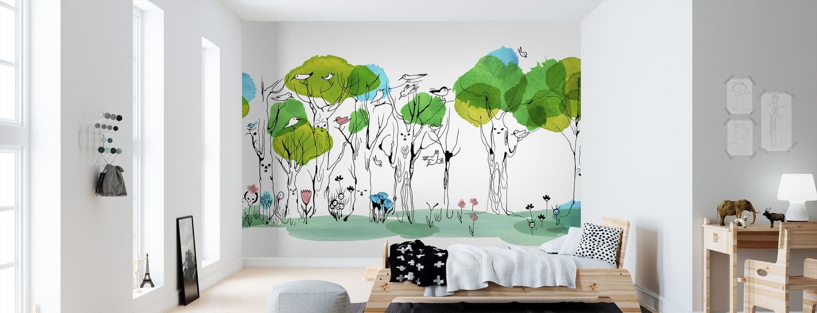 Whispering Tree - Wallpaper - Kids Room