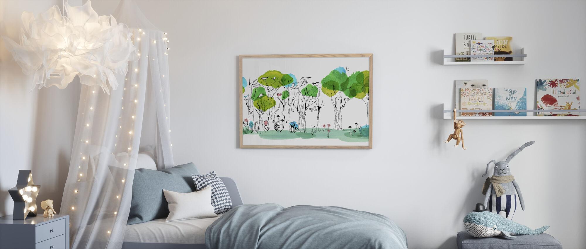 Whispering Tree - Framed print - Kids Room