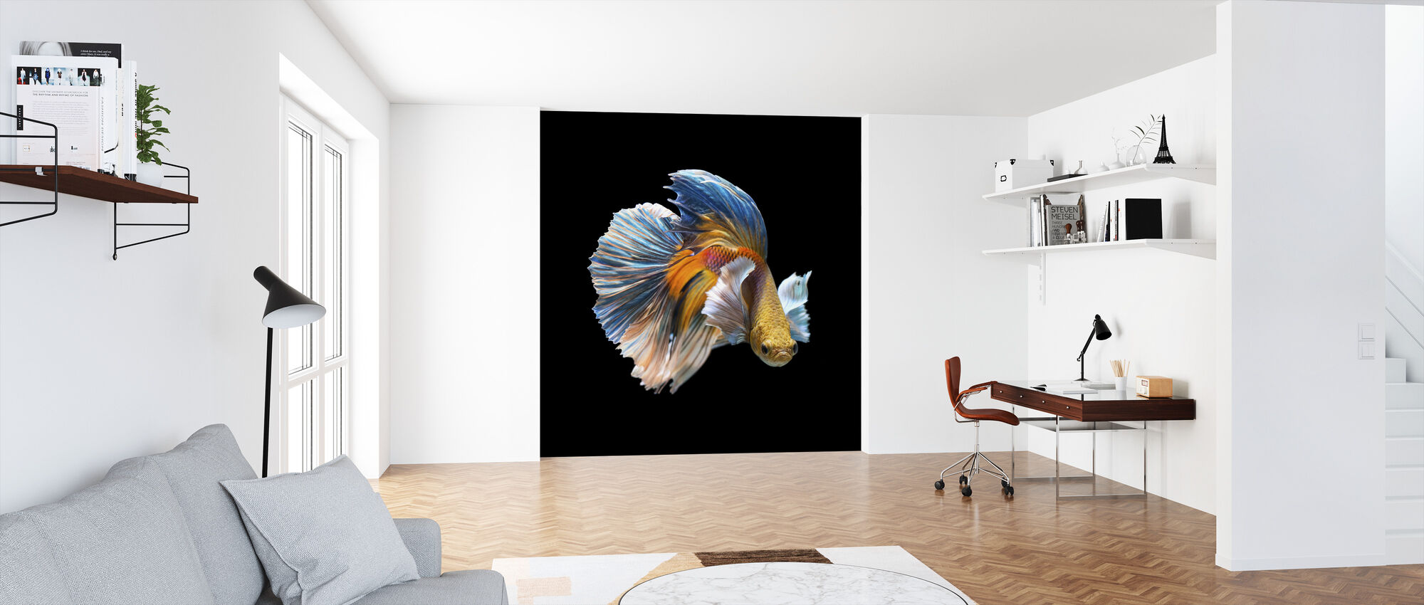 Siamese Fighting Fish - Wallpaper - Office