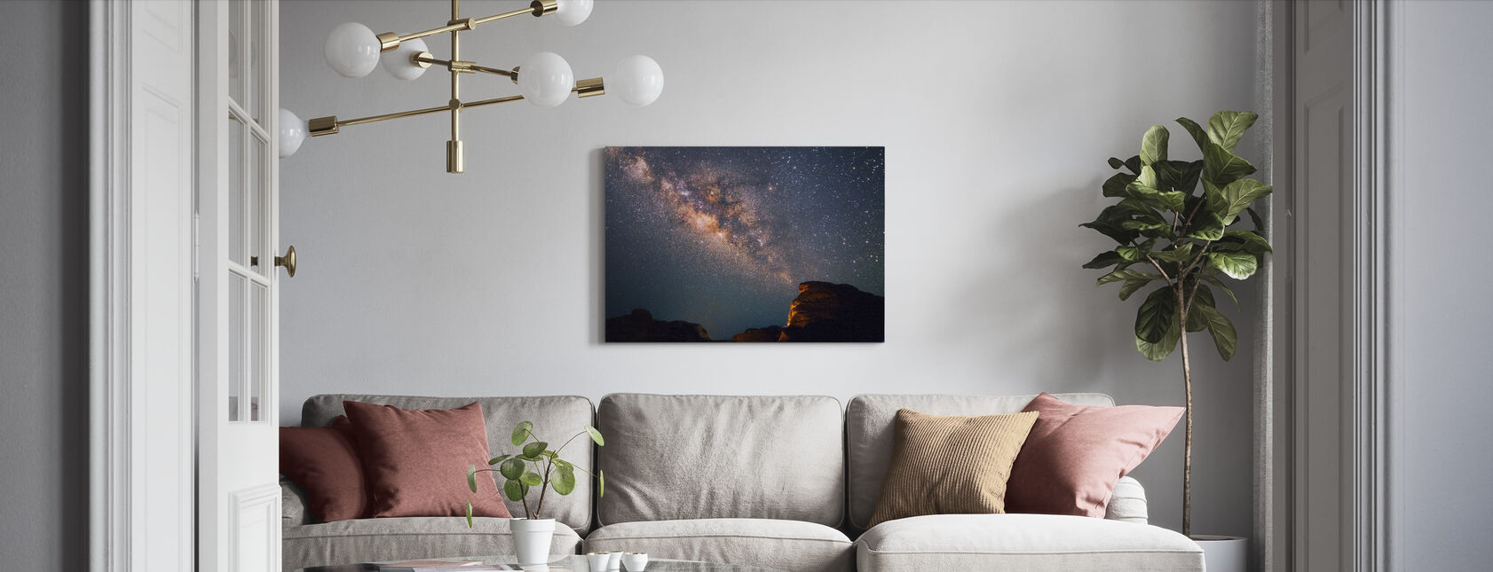 Stars Above Grand Canyon - Canvas print - Living Room