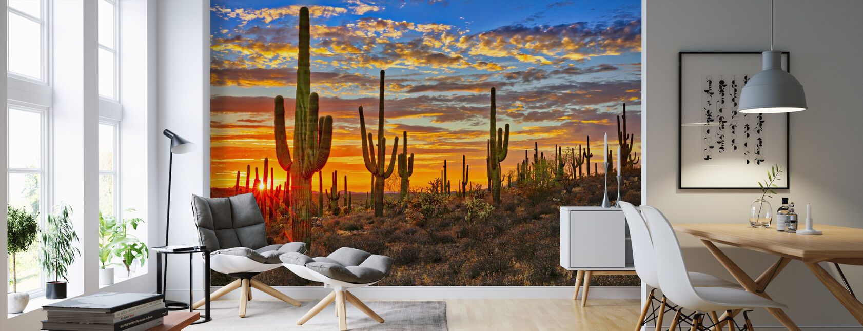 Sunset Desert - Wallpaper - Living Room