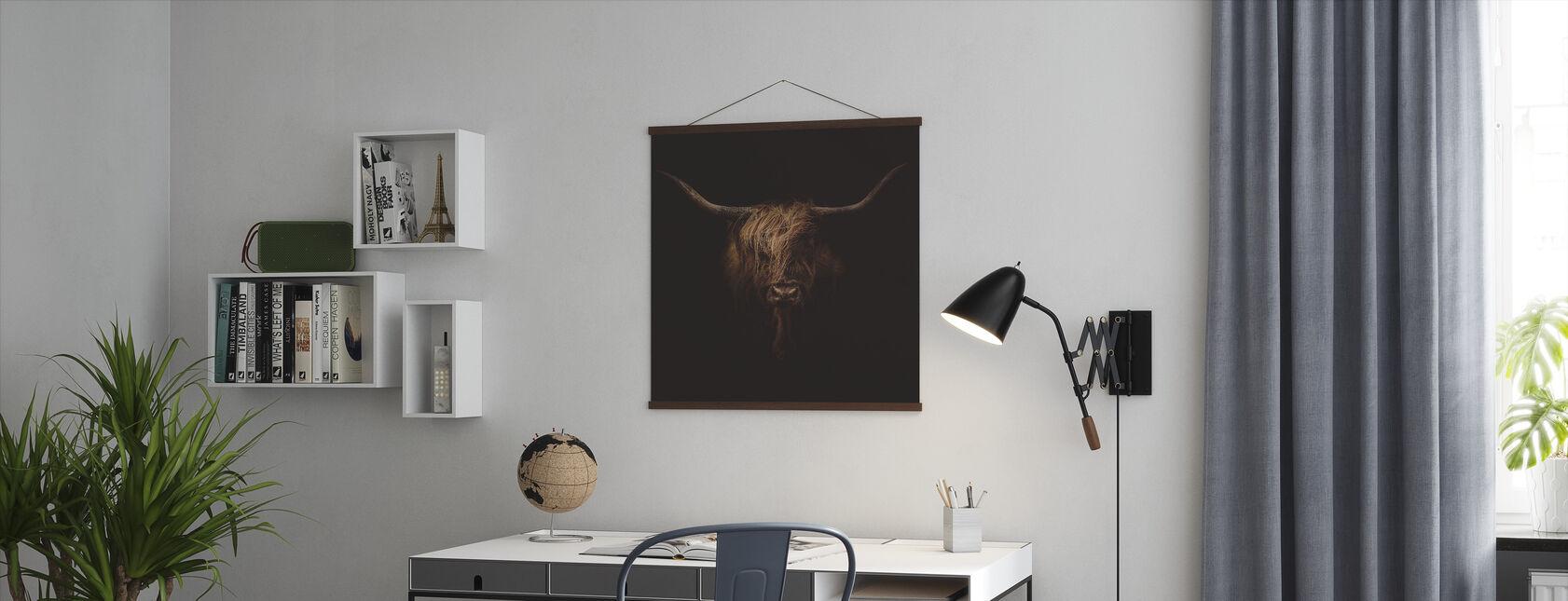 Skotske Highland Storfe - Plakat - Kontor