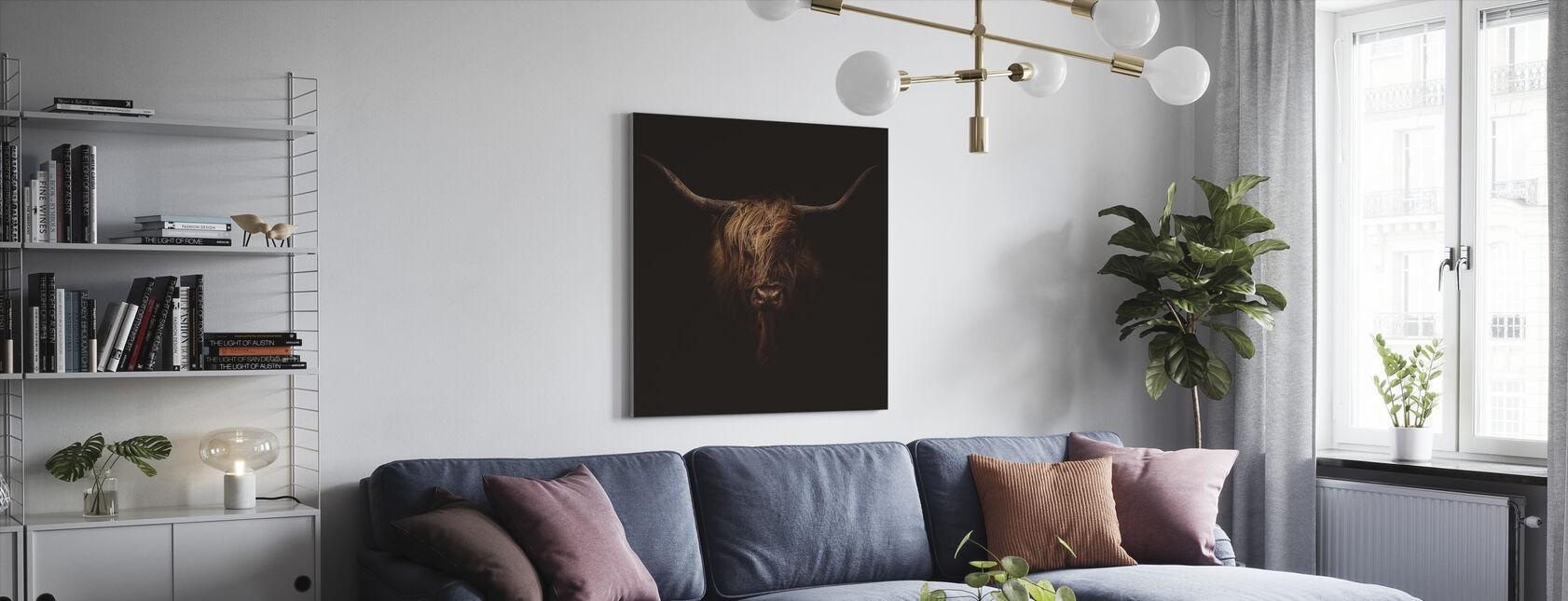 Schottische Hochlandrinder - Leinwandbild - Wohnzimmer