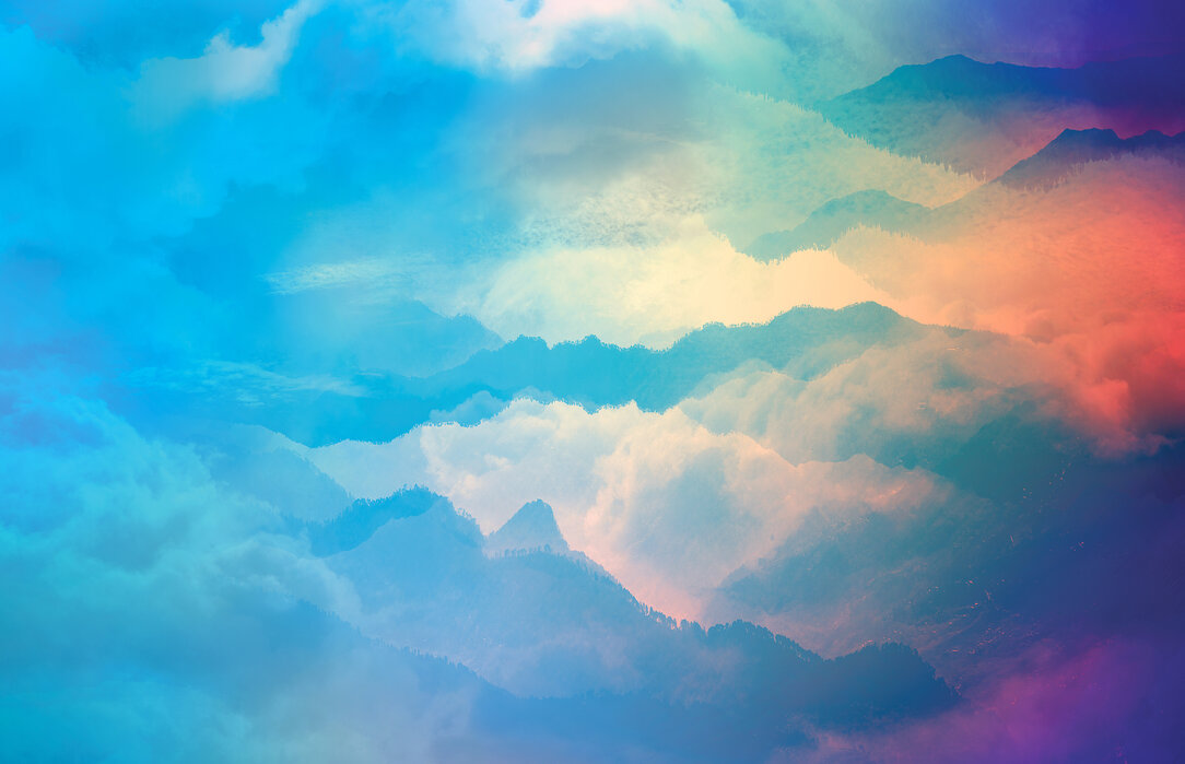 Colorful Cloudy Sky Affordable Wall Mural Photowall