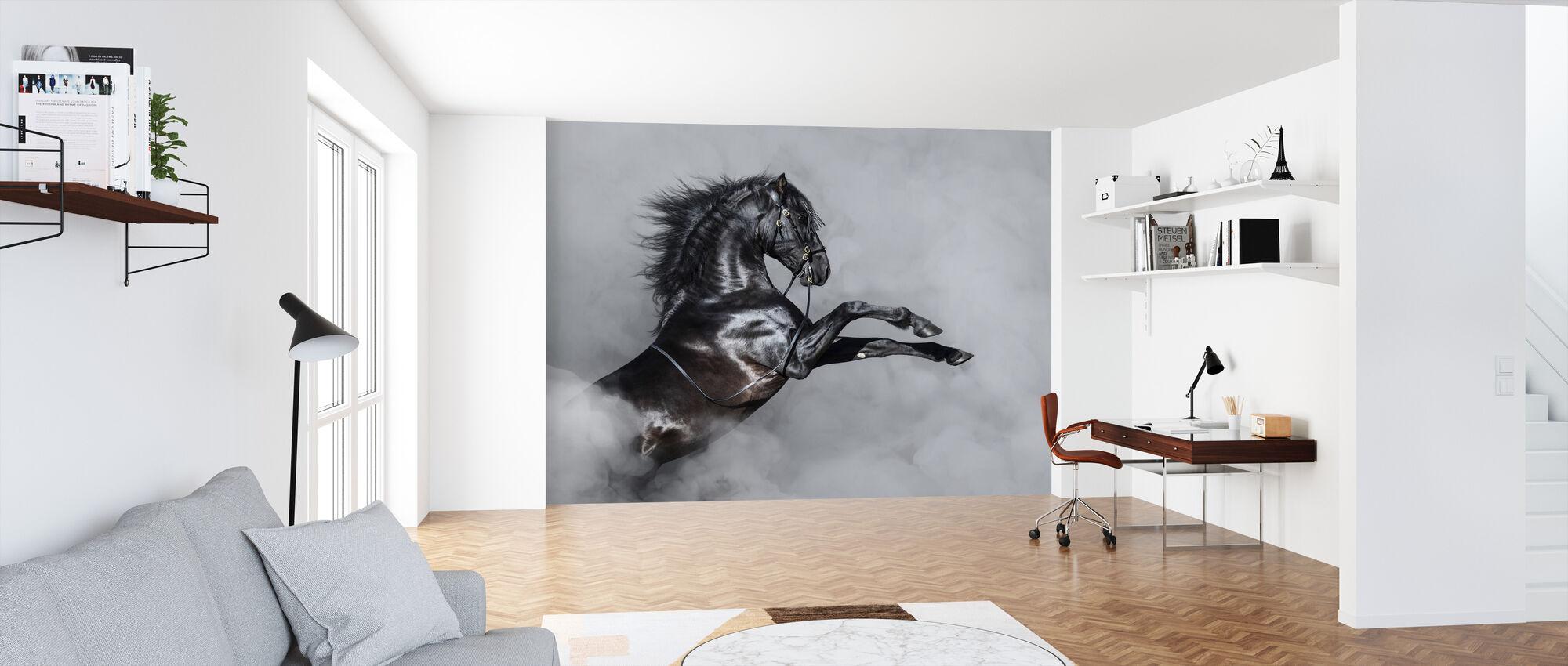 Hevosen kasvatus savussa - Tapetti - Toimisto