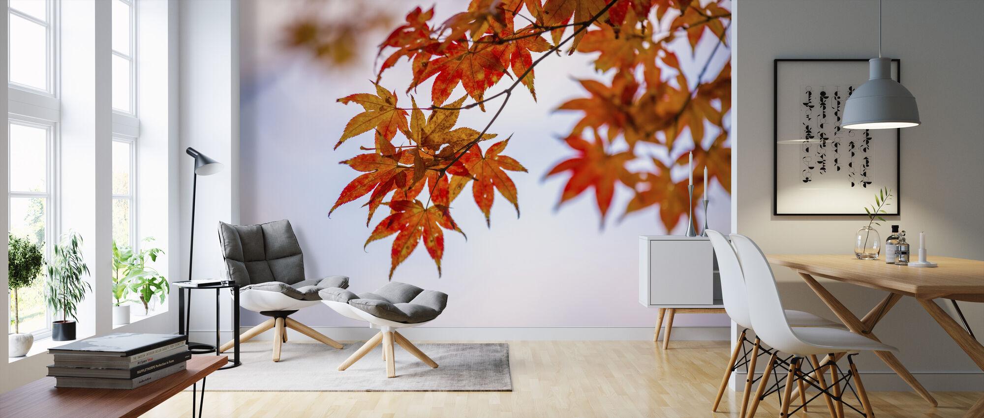 Maple Autumn Leaves - Wallpaper - Living Room
