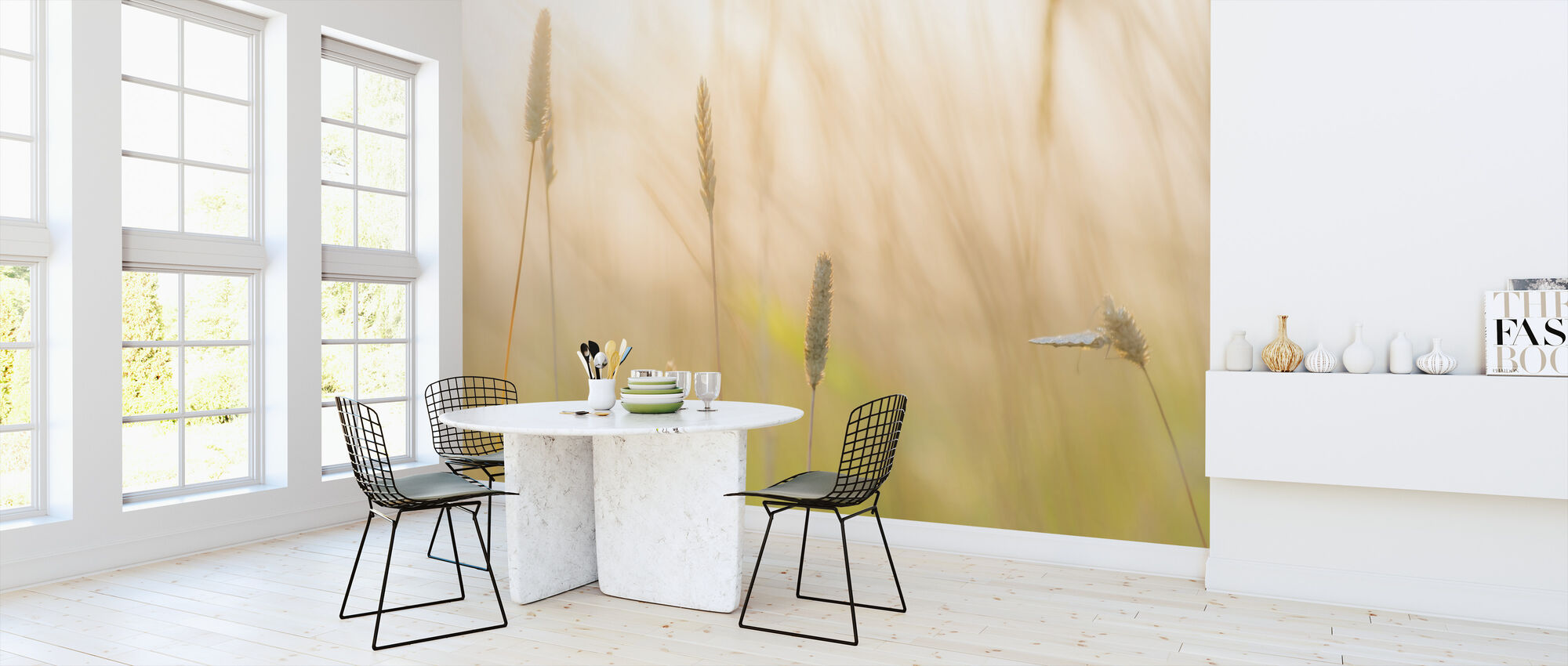 Sommerfugl og Vild Blomst - Tapet - Køkken