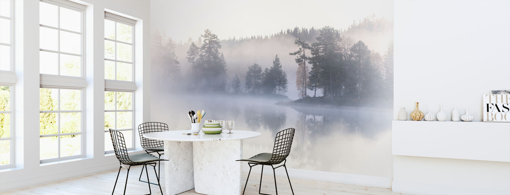 Forest and Lake Fog - Wallpaper - Kitchen