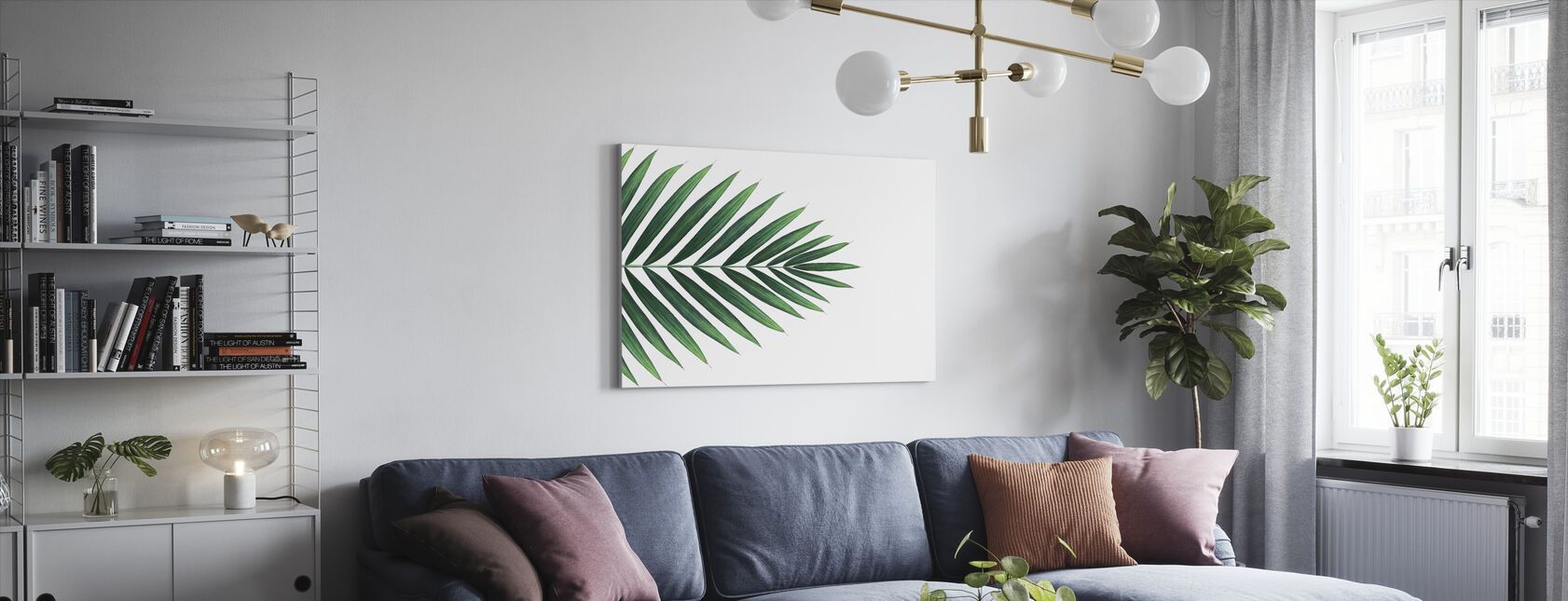 Palm Leaf - Canvas print - Living Room