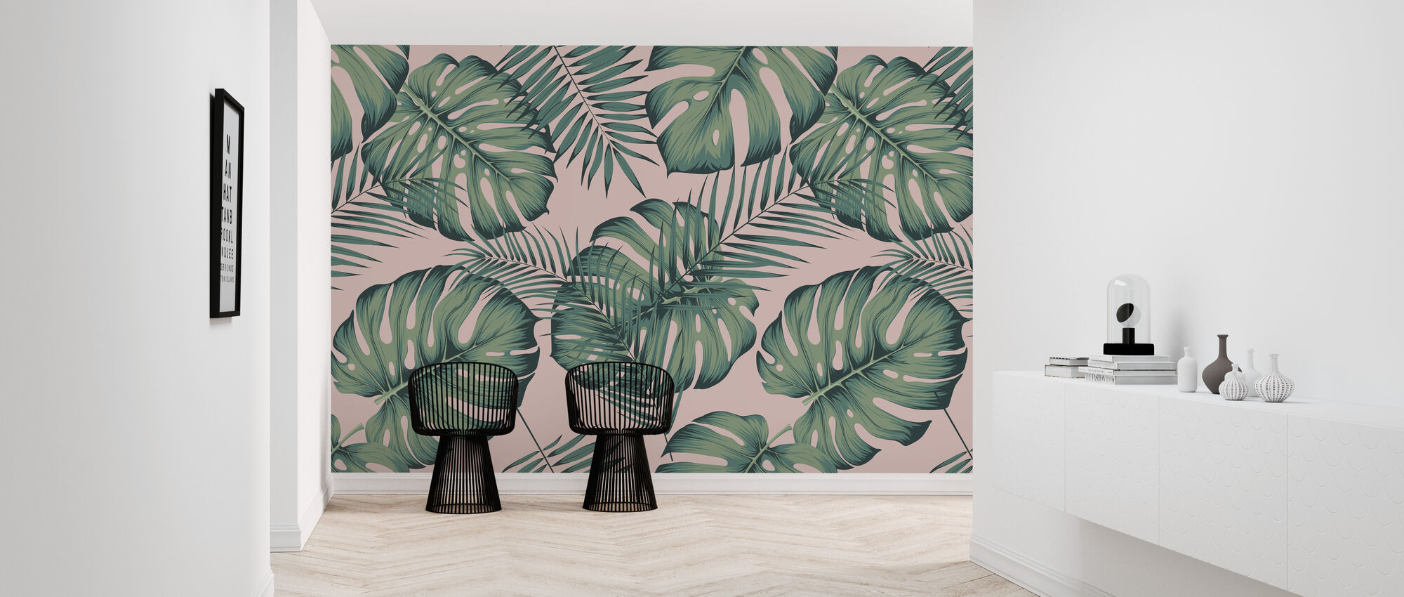 Monstera and Areca - Wallpaper - Hallway