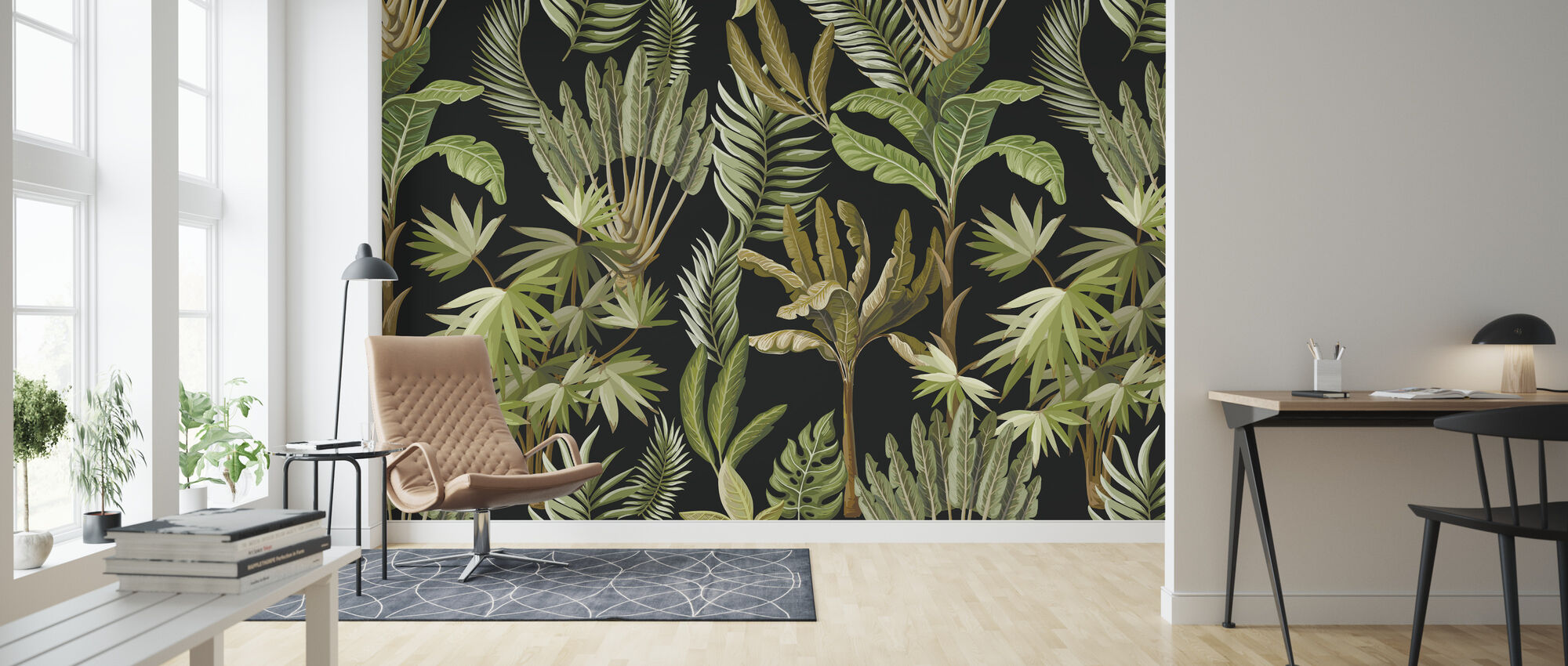 Exotic Trees - Wallpaper - Living Room