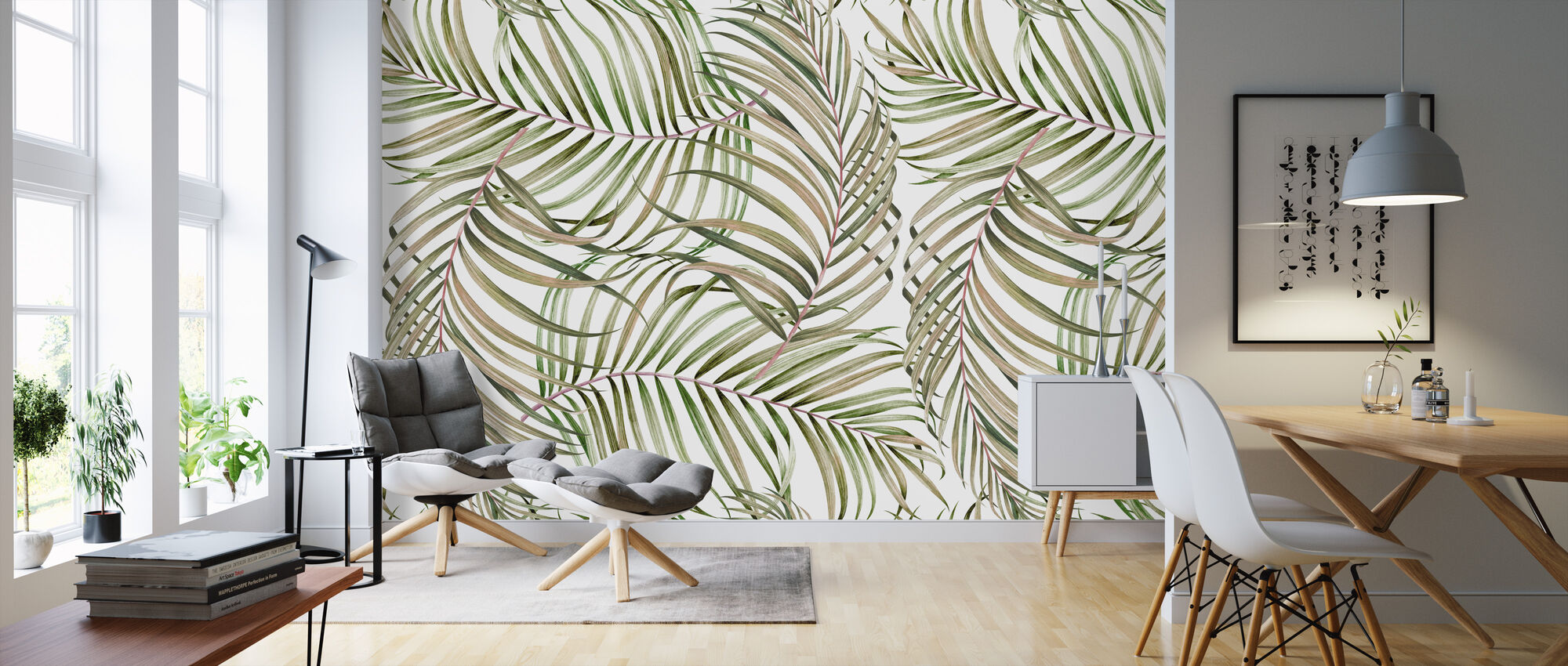 Palm Branches - Wallpaper - Living Room