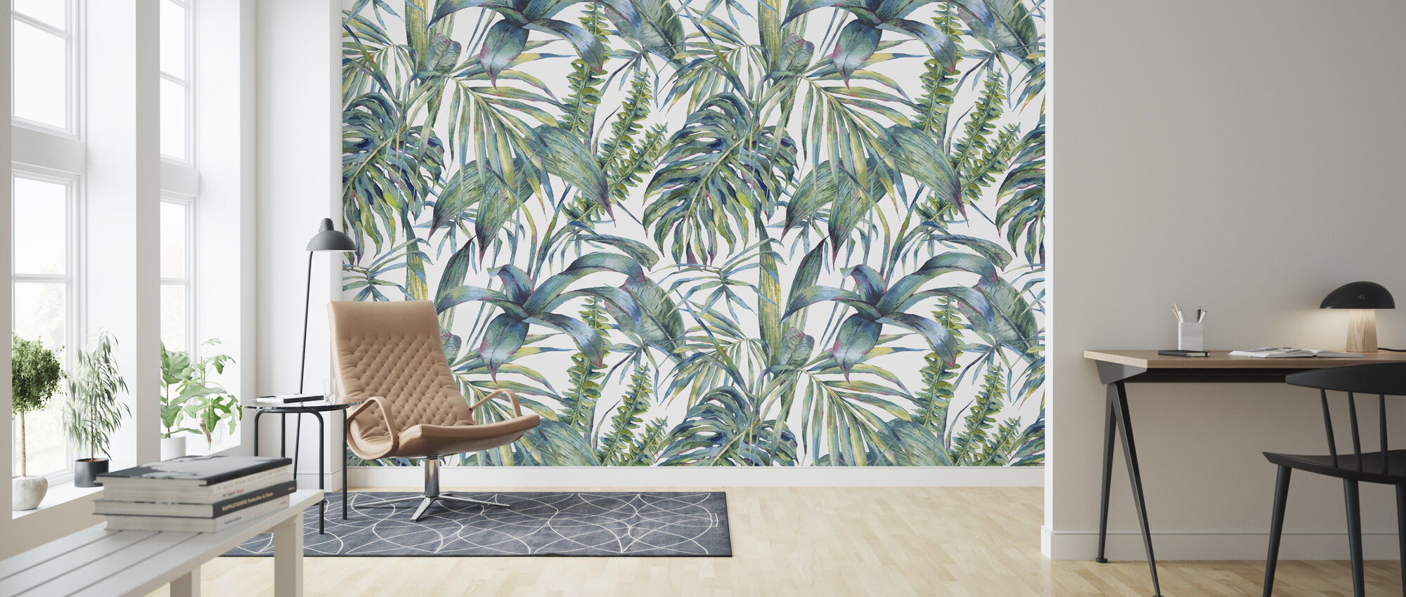 Exotic Leaves - Wallpaper - Living Room