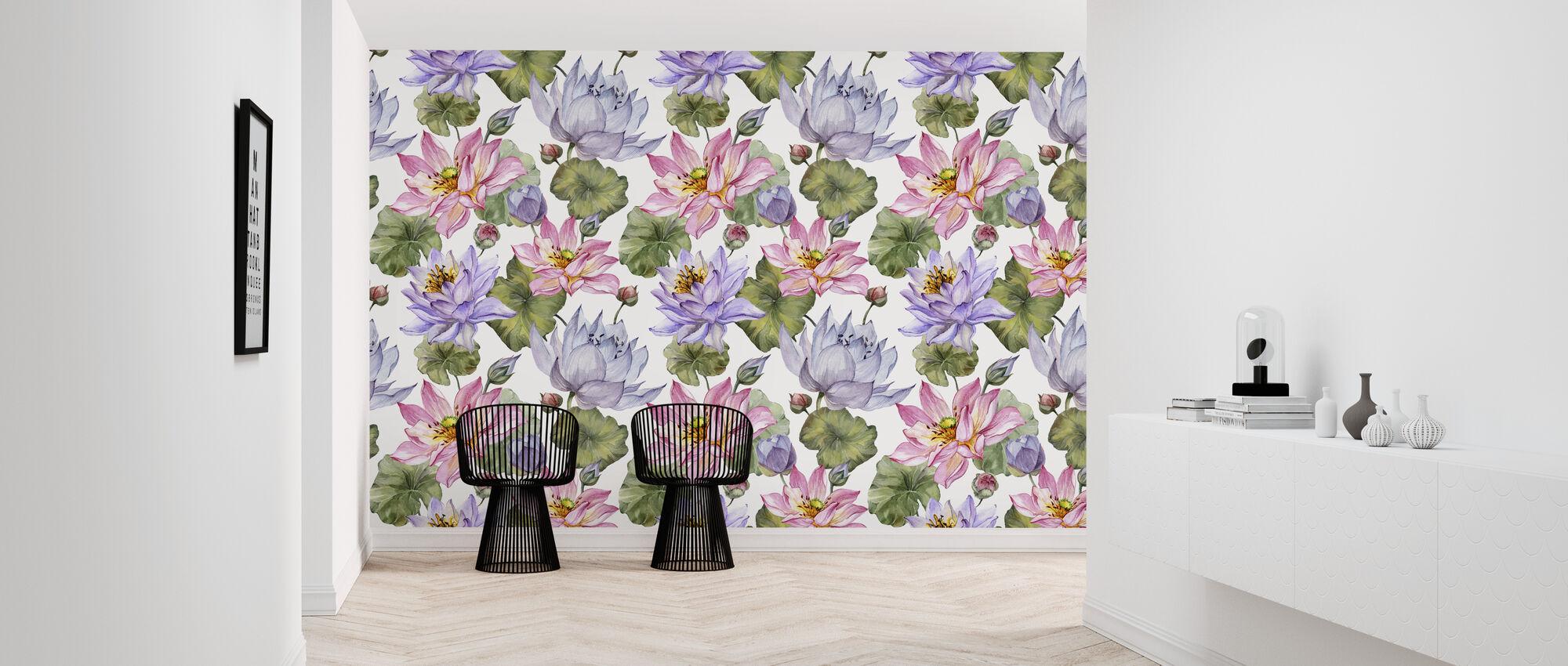 Lotus Floral - Wallpaper - Hallway