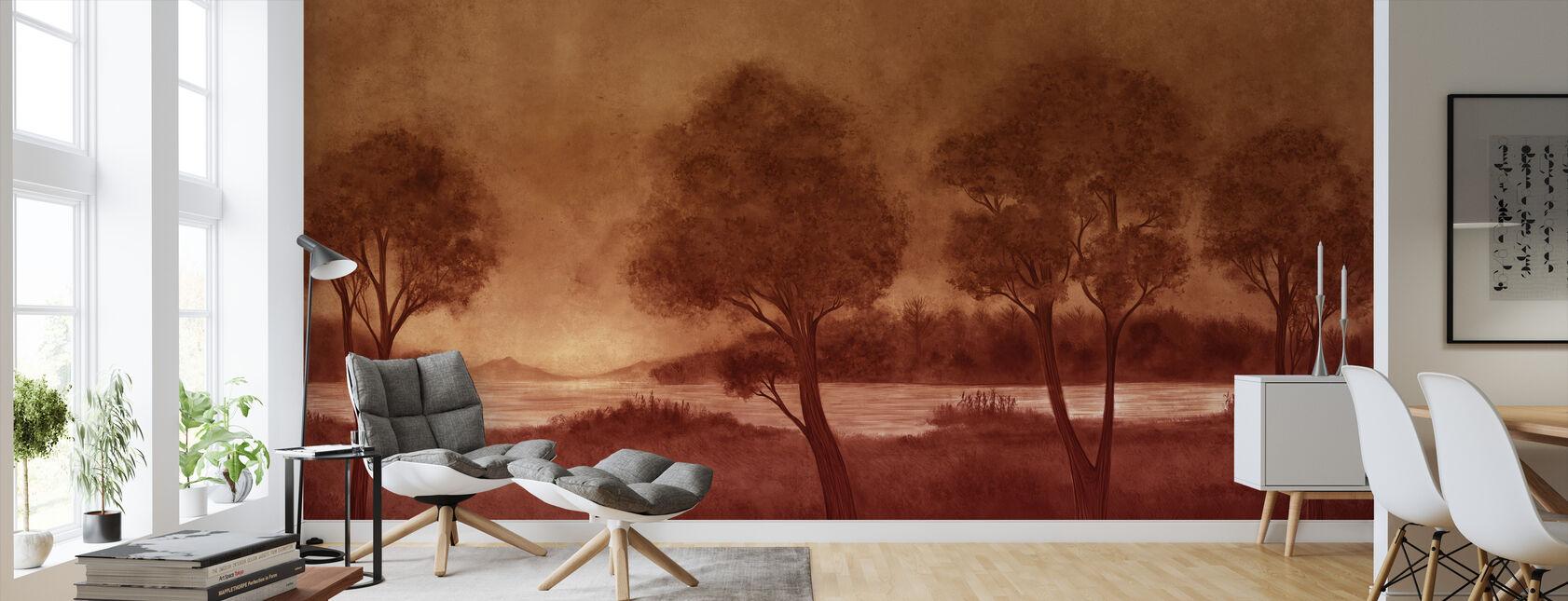 Bonny Scenery - Hazel - Wallpaper - Living Room