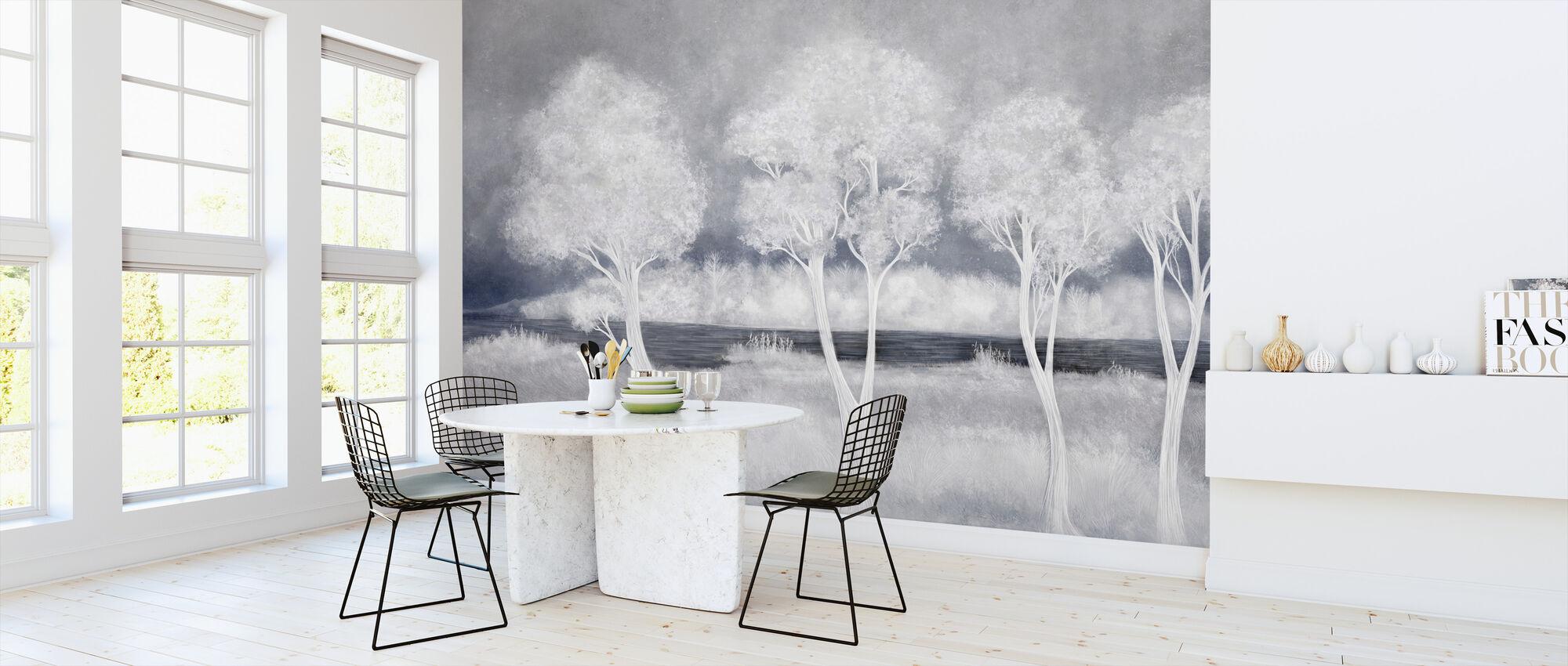 Bonny Landskap - Lyseblå - Tapet - Kjøkken