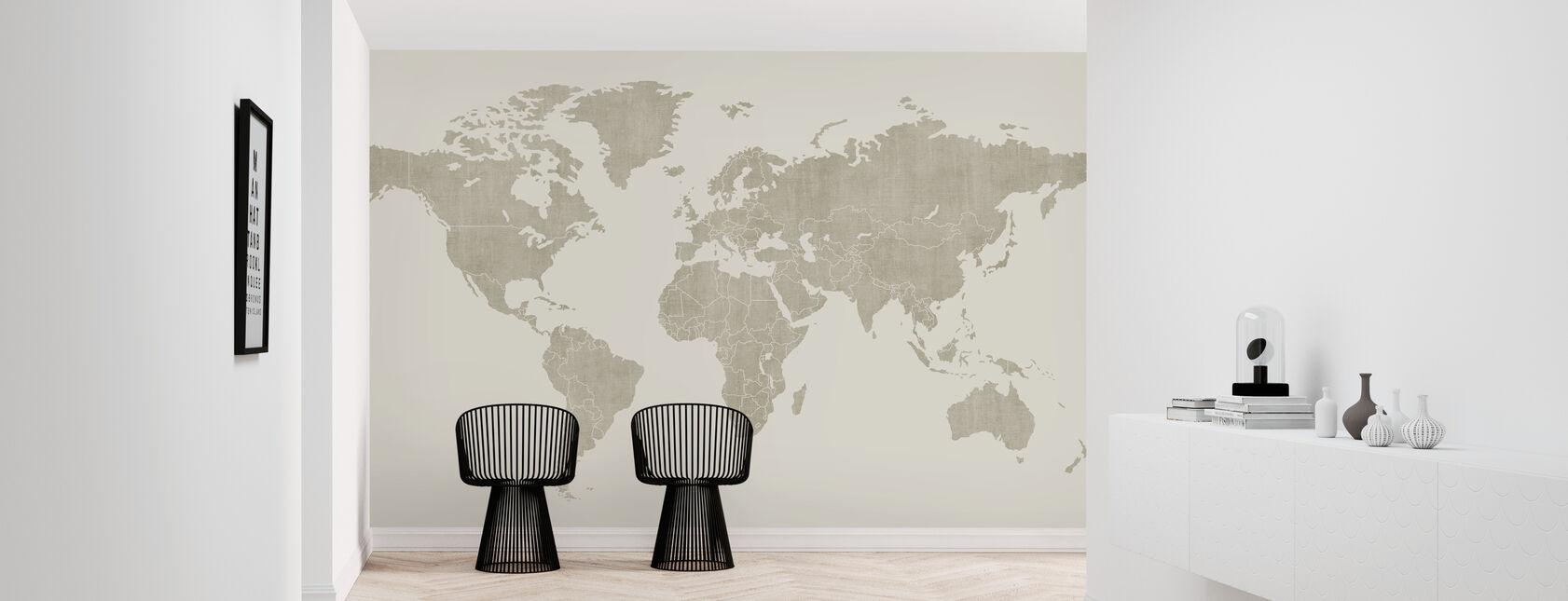 Voguish World Map - Beige - Tapet - Gang