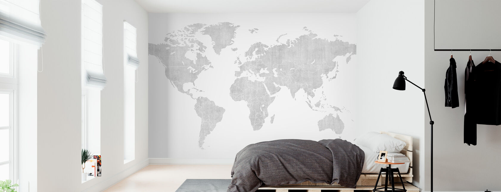 Mapa del mundo de Voguish - Brillante - Papel pintado - Dormitorio