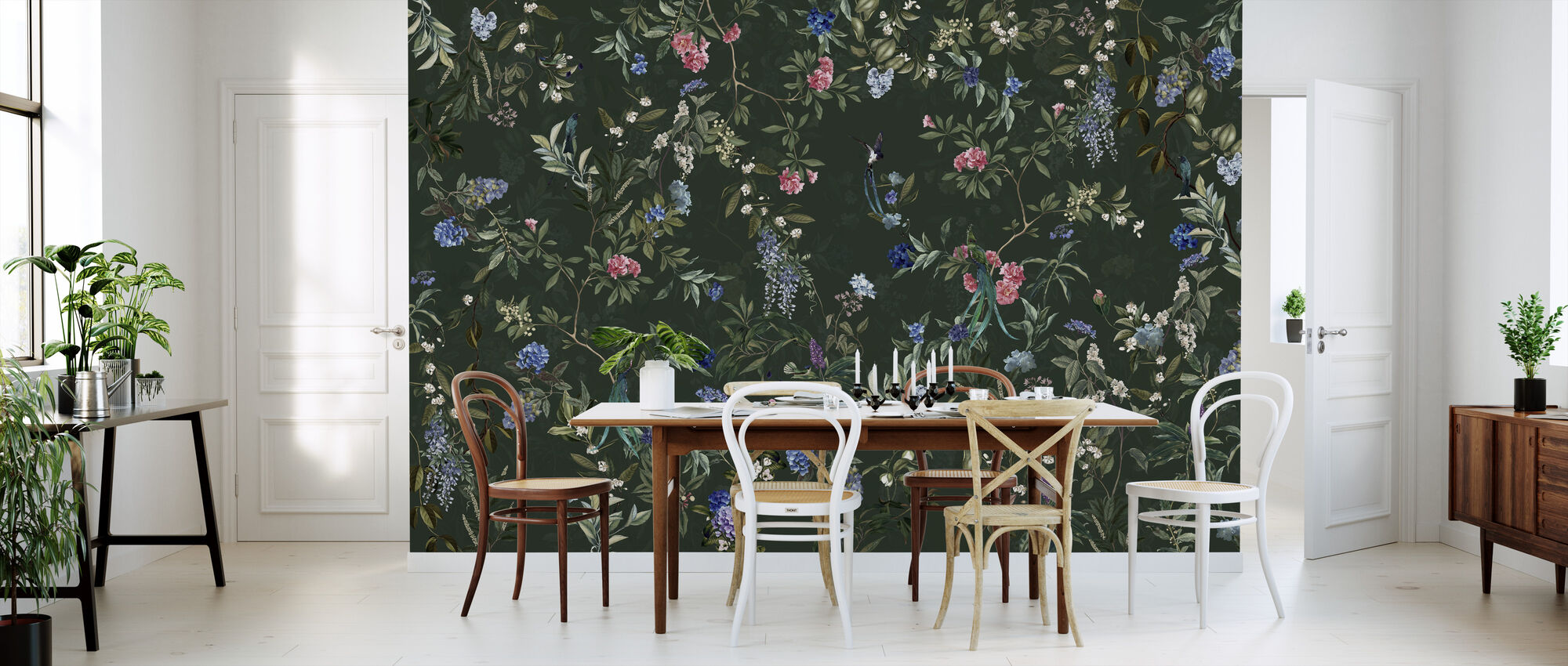 Magic Forest - Green - Wallpaper - Kitchen