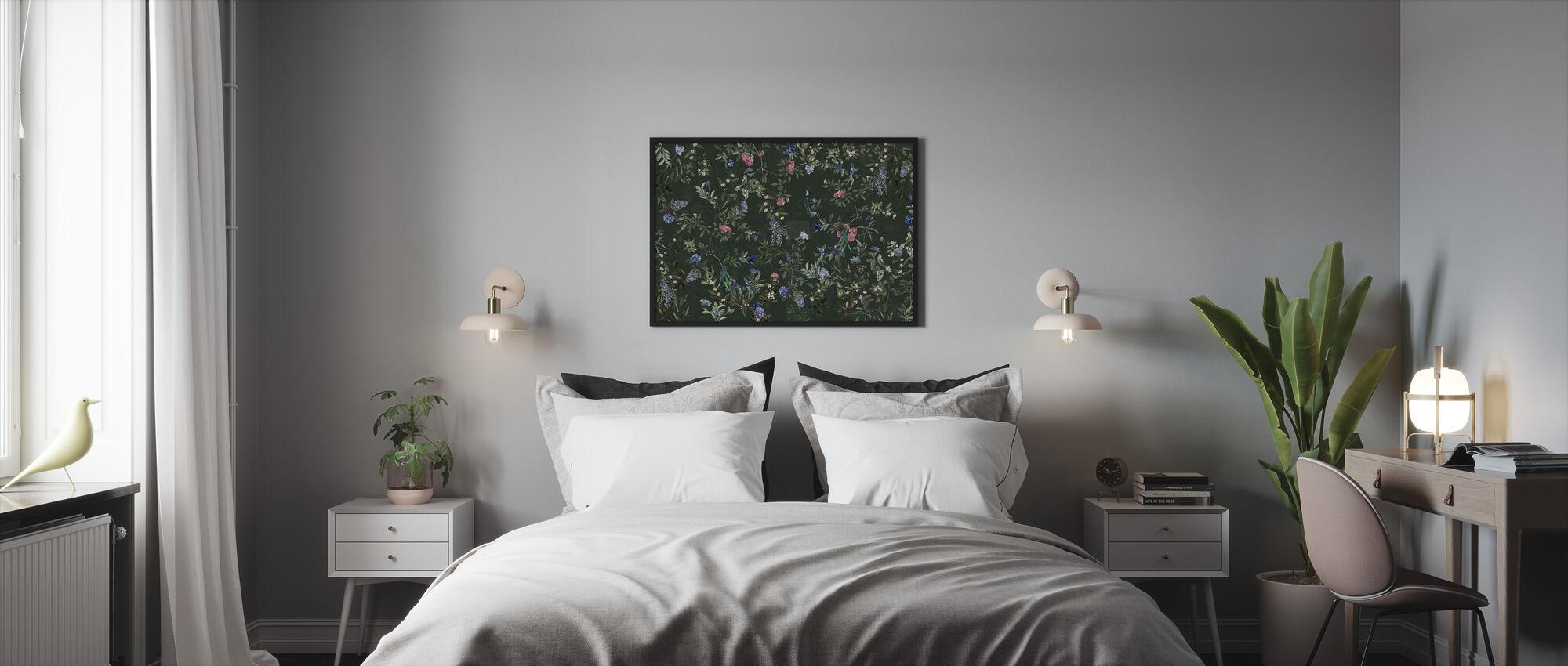 Magic Forest - Green - Framed print - Bedroom