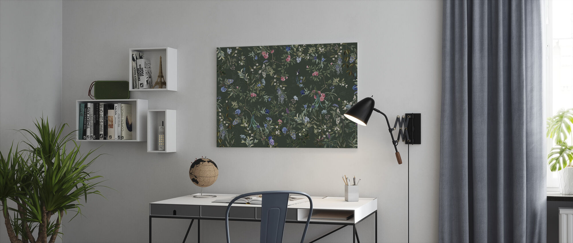 Magic Forest - Green - Canvas print - Office