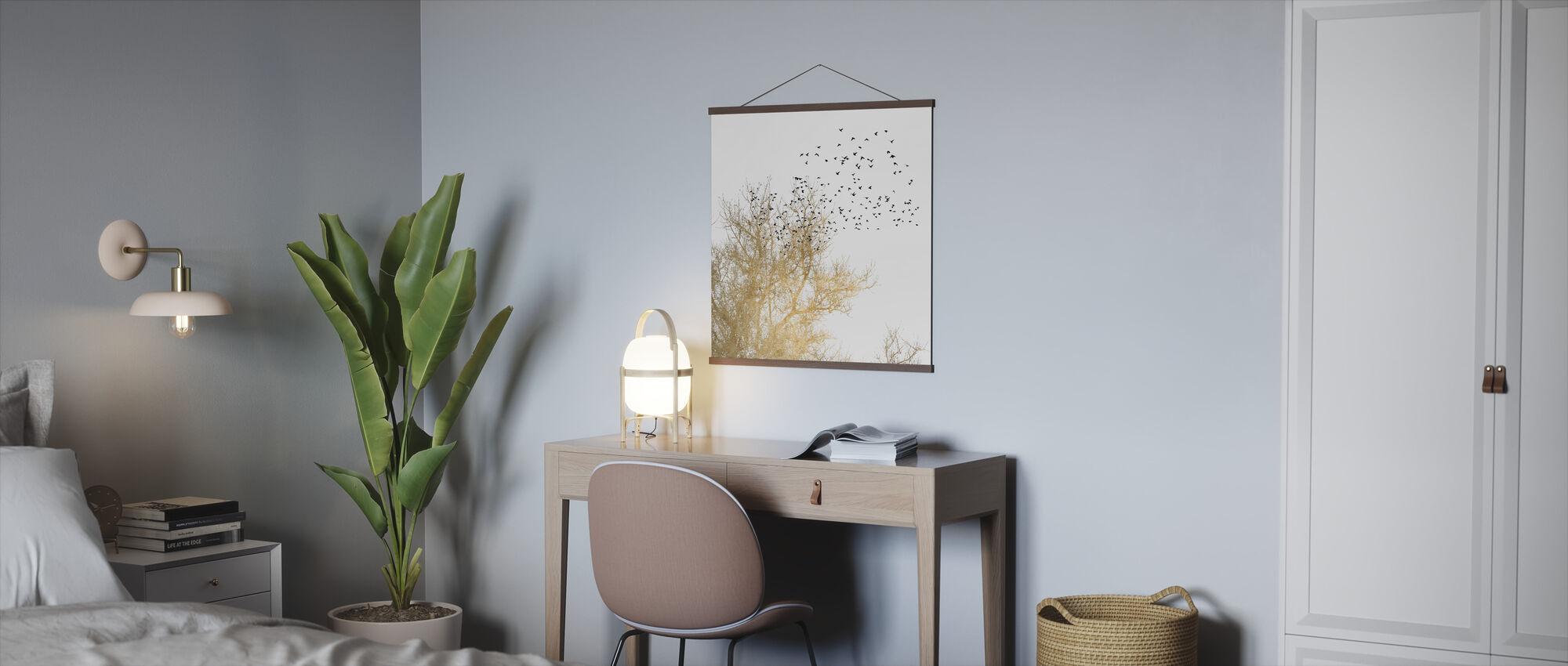 gylne fugler - Plakat - Kontor