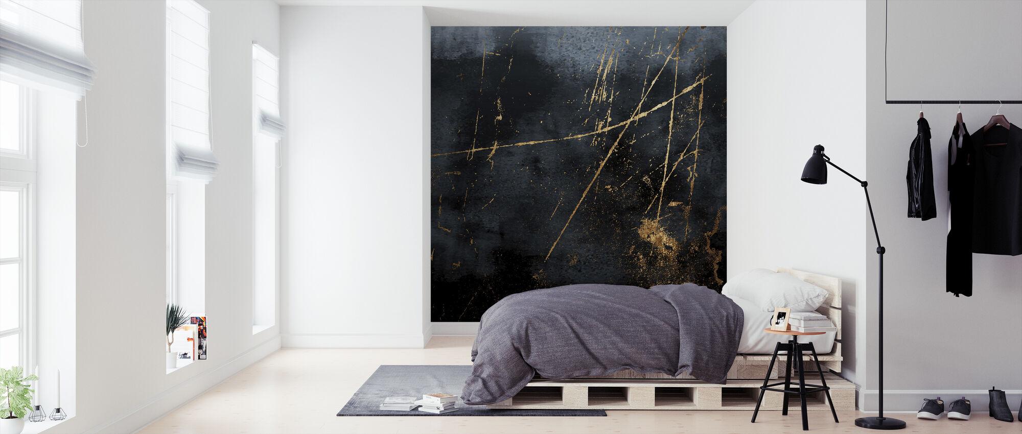 Saffier - Behang - Slaapkamer