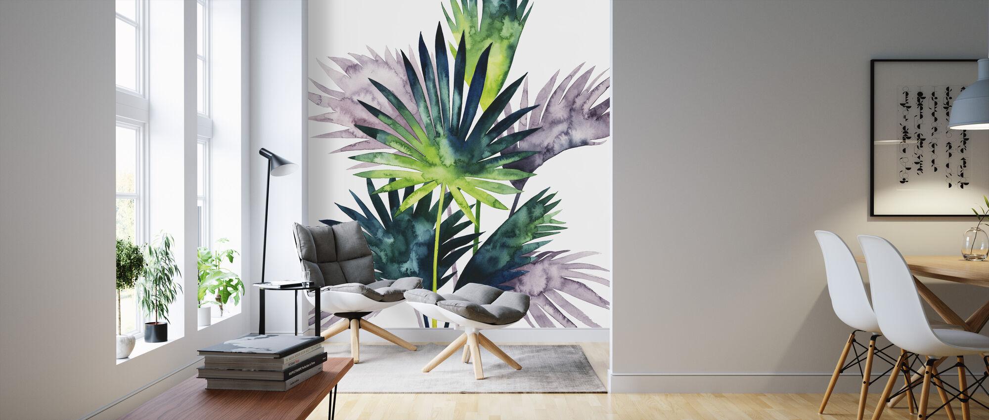 Twilight Palms III - Papel pintado - Salón