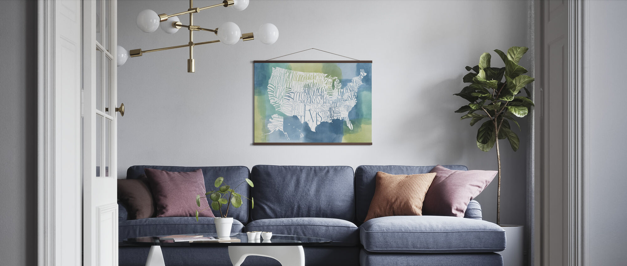 Patchwork USA - Poster - Living Room