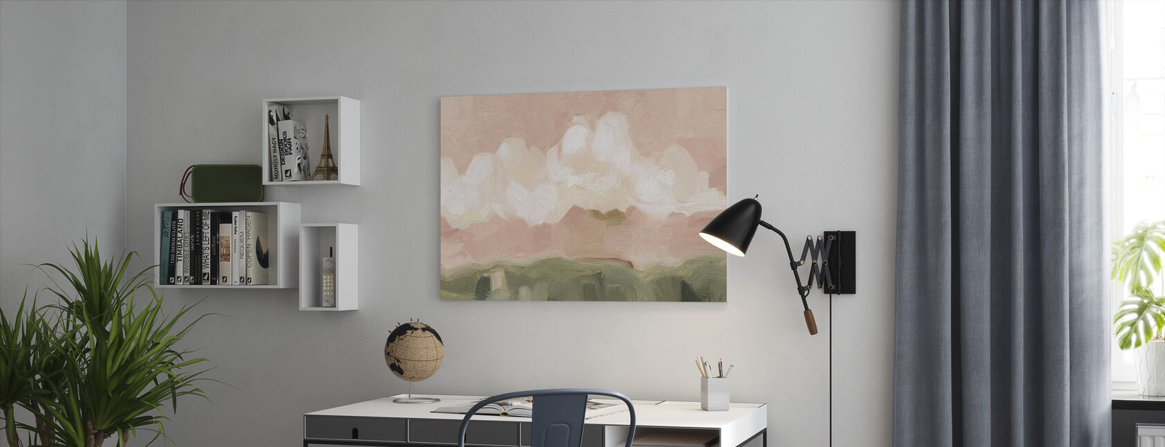 Pink Haze Sunset - Canvas print - Office