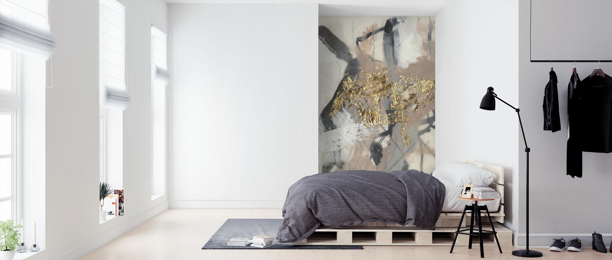 Goldenes Rouge - Tapete - Schlafzimmer